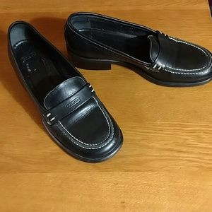 Coach - Black Leather Loafers